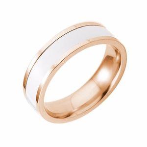 Jewelry - Solid White Gold Titanium Steel Wedding Ring